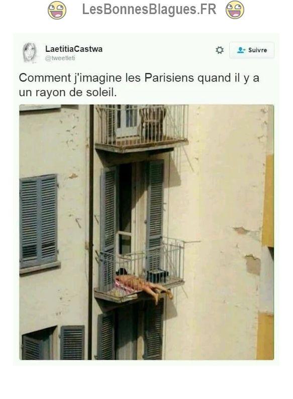 Comment j'imagine les parisiens quand il y'a un rayon de soleil_lesbonnesblagues.fr