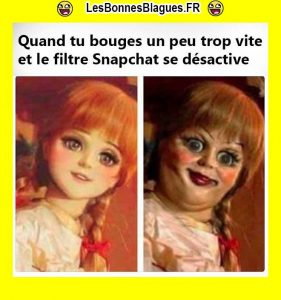 Quand tu bouges trop vite filtre Snapchat_lesbonnesblagues.fr
